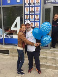 Милен Ганев и дъщеря му Гергана Калинова